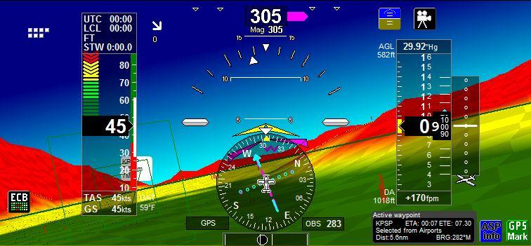 iEFIS 3D Checkboard View - MGL Avionics
