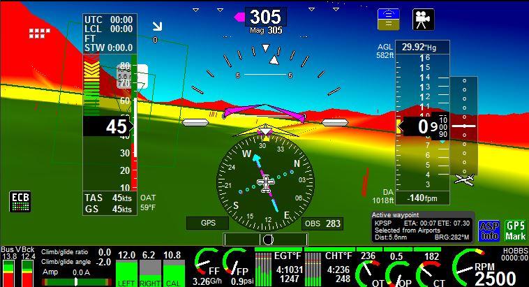 iEFIS 3D Modulated View - MGL Avionics